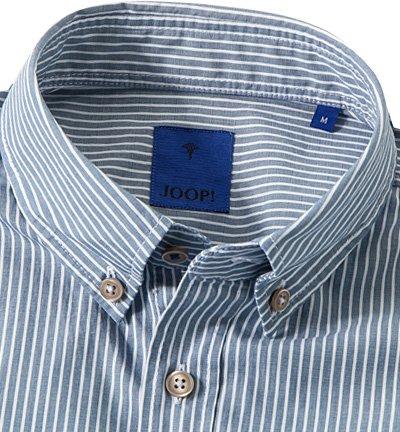 JOOP! Herren Hemd Han2-W Baumwolle Oberhemd Gestreift, Größe: S, Farbe: Blau