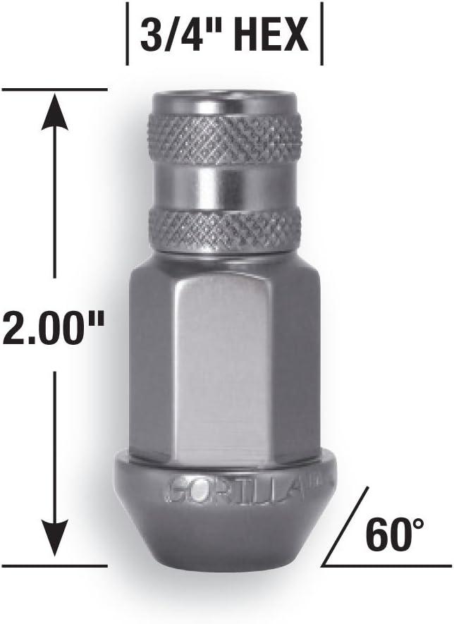 Gorilla Automotive 44037AL Open End Aluminum Racing Lug Nuts-Silver 12mm x 1.50 Thread Size