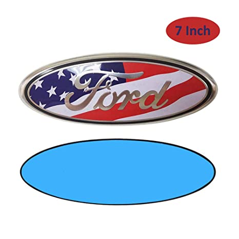 7Inch Black USA Flag For Front Grille Tailgate Emblem Oval Badge Nameplate