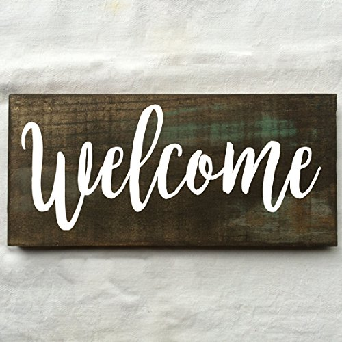 Welcome Rustic Wooden Sign 12x6