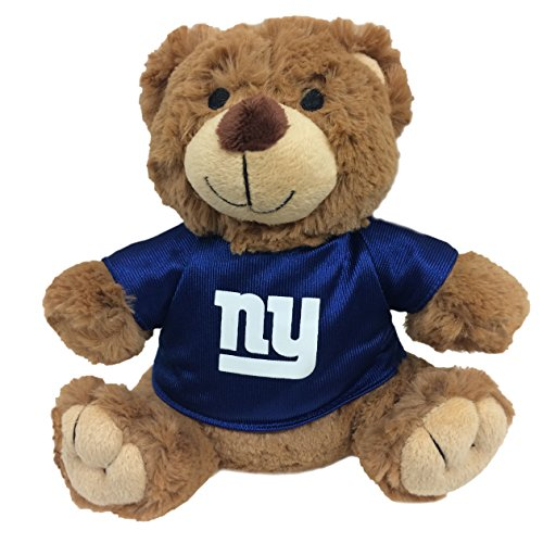 Pets First NFL Teddy Bear Plush Toy with Inner Squeaker for Dogs, Cats, Kids or Décor. Wearing an New York Giants Jersey! - Ny Giants Bear