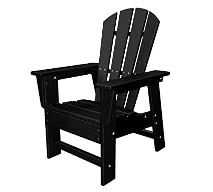 POLYWOOD SBD12BL Kids Casual Chair, Black