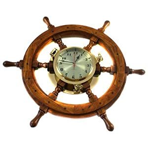 51fRnRgvSlL._SS300_ Best Ship Wheel Clocks