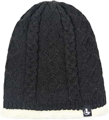 a609fa889575e lethmik Winter Beanie Skull Cap Warm Knit Fleece Ski Slouchy Hat For Men    Women