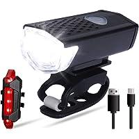 HEITIGN Luz traseira de farol de bicicleta de LED, recarregável por USB, à prova d'água, conjunto de luz traseira de…