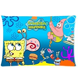 SpongeBob Pillowcase Standard Size 20x30 One Side Pillow Case PLS1047
