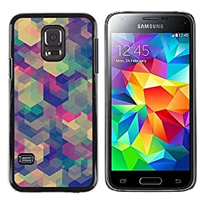 Exotic-Star ( Teal Abstract Pattern Geometric ) Fundas Cover Cubre Hard Case Cover para Samsung Galaxy S5 Mini / Samsung Galaxy S5 Mini Duos / SM-G800 !!!NOT S5 REGULAR!