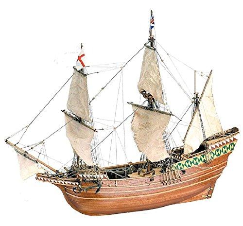 51 1/60 Pilgrim Ship Mayflower Model Building Kit (Latina Wooden Ship Model)