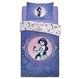 Premier Life Store Disney Aladdin Pretty As Paisely Princess Jasmine - Juego de Funda de edredón para Cama Individual