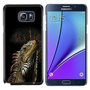 GIFT CHOICE / Teléfono Estuche protector Duro Cáscara Funda Cubierta Caso / Hard Case for Samsung Galaxy Note 5 5th N9200 // Cool Iguana Lizard Reptile //
