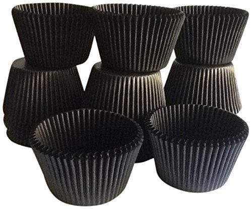 Golda's Kitchen 100 Count Baking Cups, Standard Sized, Black ()