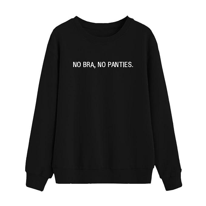 BLACKMYTH Mujer Redondo Sudaderas Para Estampar Manga Larga Gracioso Sweatshirts Pullovers: Amazon.es: Ropa y accesorios