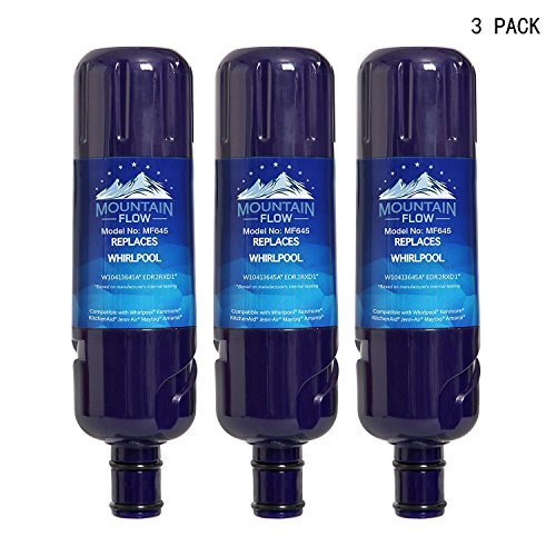 W10413645A W10238154 Refrigerator Water Filter 2, Replacement for Whirlpool Filter 2, EDR2RXD1, Kenmore 9082 by Mountain Flow