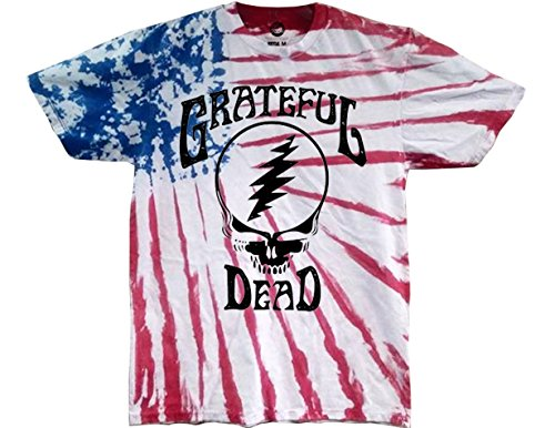Ripple Junction Grateful Dead Steal Your Face Adult Tee Shirt 3XL Multi Colored ()