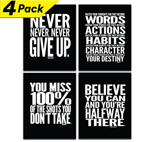 Motivational Quote Workout Gym Poster - 8