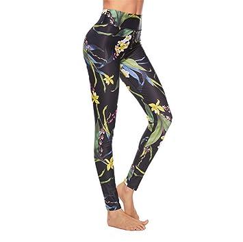 HW Pantalones Yoga Mujeres, Pantalones De Yoga De Cintura ...
