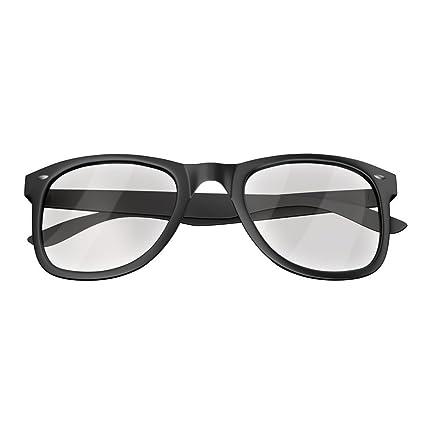 Mars Gaming MGL1 - Gafas protectoras para gaming (diseño retro, cristal transparente, lentes de policarbonato, filtro luz azul) color negro