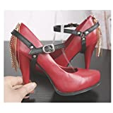 Adjustable Anti-loose Shoelace Shoe Straps Band for High Heels/Flats High Heels/Pumps Holder for Lady Women Girls (Black)
