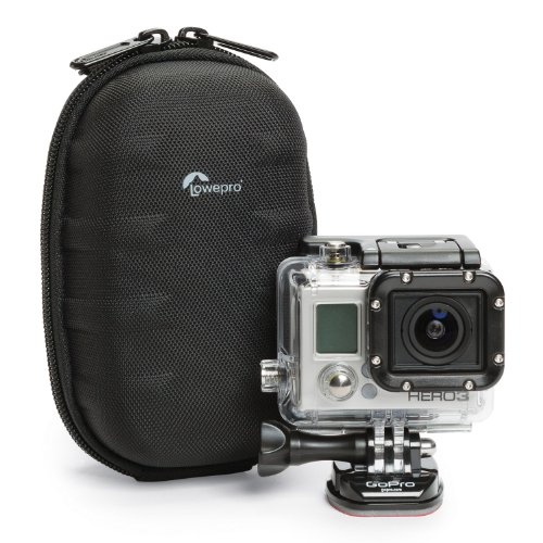 Lowepro Santiago DV 35 Camcorder Bag - Hard Shell Case For Camcorder and Action Video Cameras (Lowepro Dslr Video)
