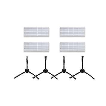 Equipaje de reemplazo para ILIFE A6 A4 A4s Robot Aspirador Cepillo lateral de filtro: Amazon.es: Hogar