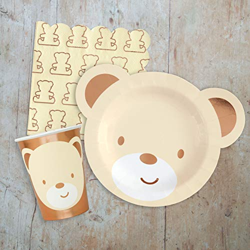 - Hatton Gate Teddy Bear Tableware Pack for 8 Guests Includes Plates Cups and Napkins