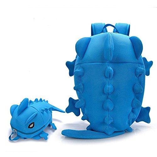 Bambini Zaini Scuola Borse Dinosauro Bambino Piccolo Ragazzi Ragazze Daypacks 2-9 Anni Blu