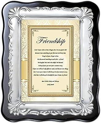 FRIENDS PHOTO FRAMES WITH GIFT BOX PRESENT BESTIE GLASS MIRROR SILVER
