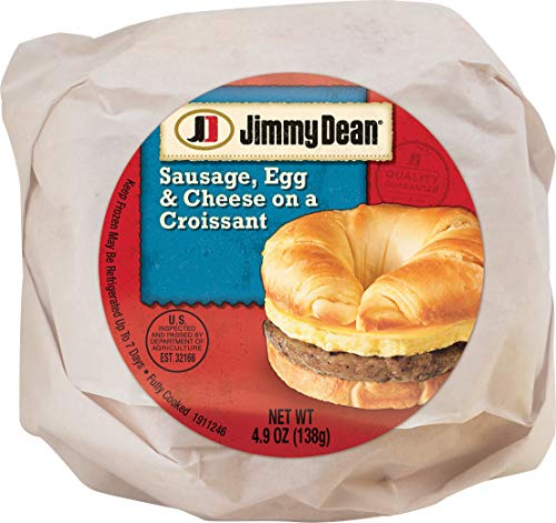 Jimmy Dean Butcher Wrapped Sausage, Egg & Cheese Croissant, 4.9 oz (12 -