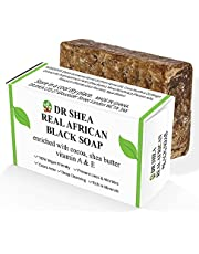 Organic African Black Soap 100g - Antibacterial Body Wash & Hand Wash - Eczema, Dry Skin, Psoriasis, Scar Removal, Face cleanser. Body Wash & moisturiser, Authentic Raw from Ghana.
