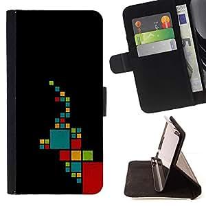 For Sony Xperia Z2 D6502 Case , Patrón minimalista trullo Rojo- la tarjeta de Crédito Slots PU Funda de cuero Monedero caso cubierta de piel
