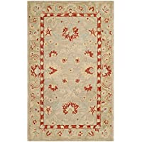 Safavieh Anatolia Collection AN571A Handmade Traditional Oriental Ivory and Green Wool Area Rug (3 x 5)