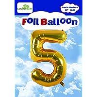 "40"" Gold Jumbo Digital Number Balloons Huge Giant Balloons Foil Mylar Balloons for Birthday Party,Wedding, Bridal Shower Engagement Photo Shoot, Anniversary"