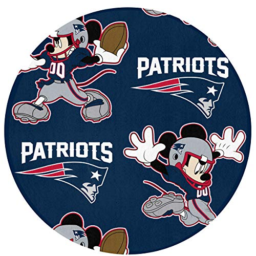 (Dalean New England Patriots Floor Mat with Circular, Non - Fading, 23.62 inches in Diameter, Suitable for Indoor Floor Mat of Entrance, Bathroom, Bedroom,Toilet, Etc)