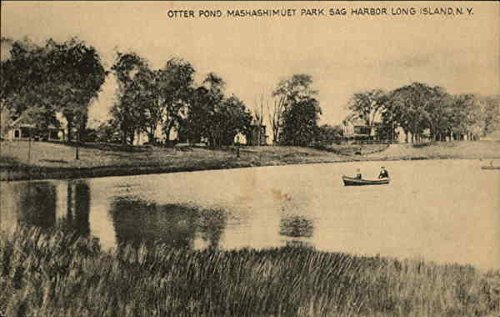 Otter Pond, Mashashimuet Park, Long Island Sag Harbor, New York Original Vintage Postcard ()