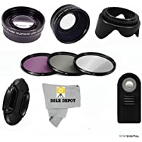 WIDE-ANGLE-LENS-ZOOM-LENS-REMOTE-3-FILTERS-FOR-NIKON-D3400 D5600-DSLR-PRO-HD-KIT
