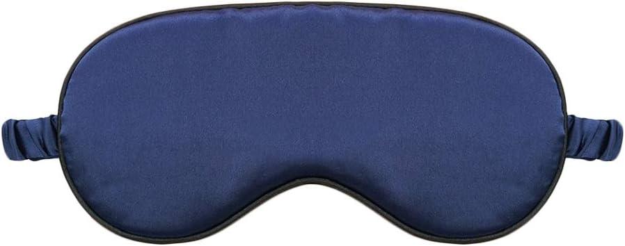 Nunubee Masque de sommeil masque pour les yeux masque de nuit bande de caoutchouc r/églable 100/% soie inodore lunettes de sommeil 2 Pi/èces