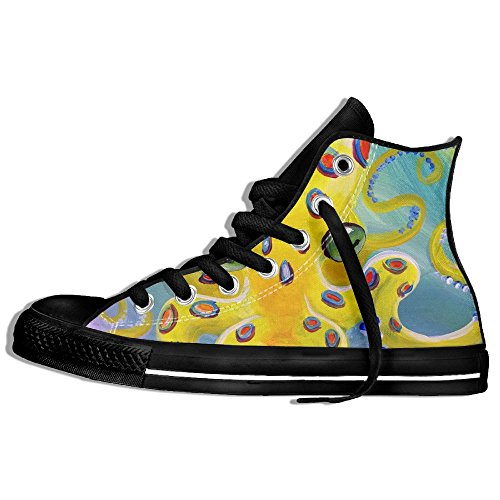 Classiche Sneakers Alte Scarpe Di Tela Anti-skid Octopus Casual Da Passeggio Per Uomo Donna Nero