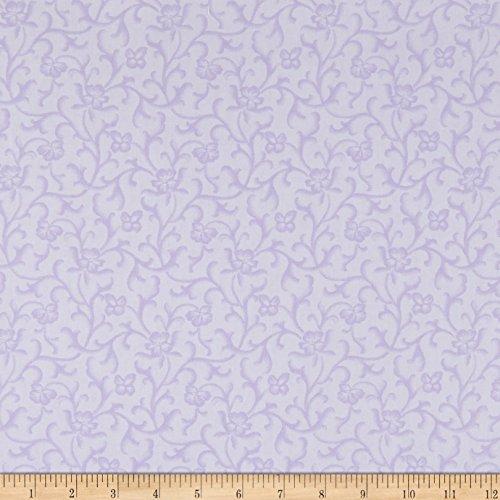 - Maywood Studio Emma's Garden Tonal Scroll Light Purple Fabric by The Yard
