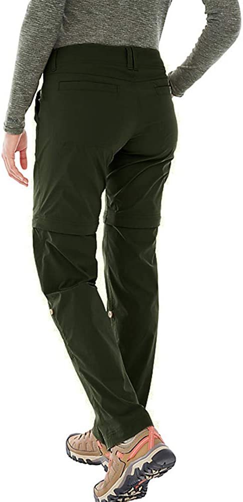 linlon Womens Hiking Pants Convertible Stretch Outdoor UPF 40 Cargo Pants Safari Travel Shorts