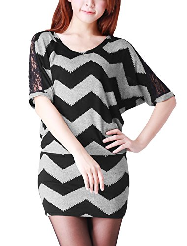 allegra-k-women-lace-panel-zigzag-pattern-elbow-batwing-sleeve-tunic-shirt