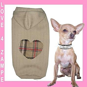 XXS pöperi Love WOLL Capucha Sudadera con capucha Chihuahua perro perros - Sudadera para mujer para pequeños perros mano: Amazon.es: Productos para mascotas