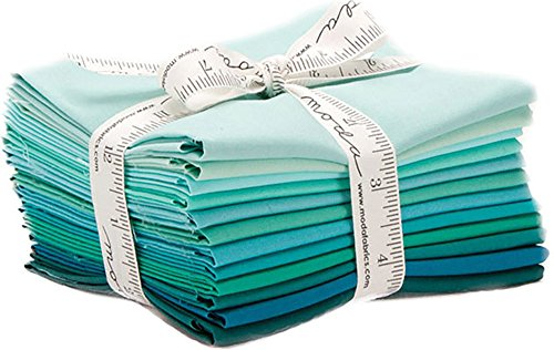 Bella Solids Teal 12 Fat Quarters Moda Fabrics 9900AB 127