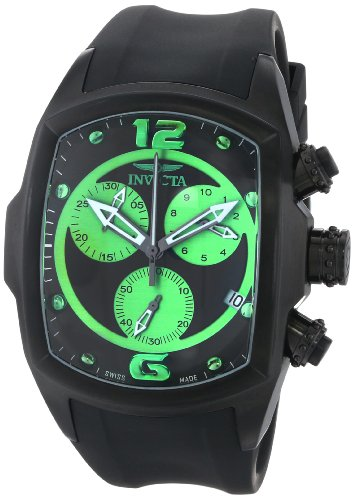 Invicta Men's 14012 Lupah Analog Display Swiss Quartz Black Watch, Watch Central