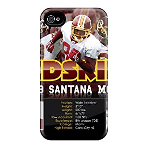 Durable Hard Phone Cover For Iphone 4/4s With Provide Private Custom Lifelike Washington Redskins Image KerryParsons