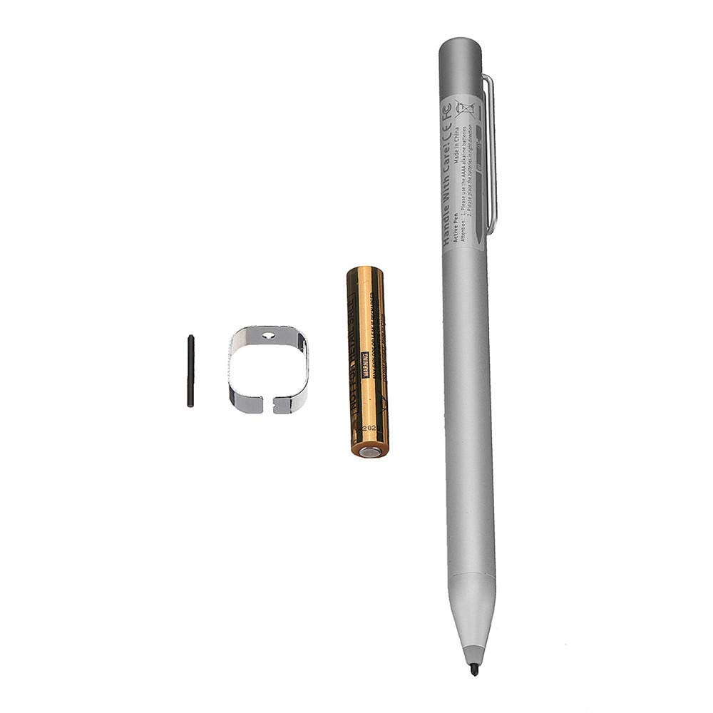 1024 Pressure Tip Active Stylus Pen For Surface Pro 4 3 MS Surface Studio Tablet - Tablet Accessories Tablet Gadgets - (Silver) - 1x pen, 1xbattery, 1x clamp