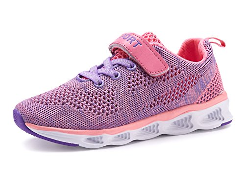 Casbeam Lightweight Comfortable Boys and Grils Running Shoes Purple 34 by Casbeam