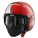 Shark Raw Stripe Red White Motorcycle Helmet Size Medium