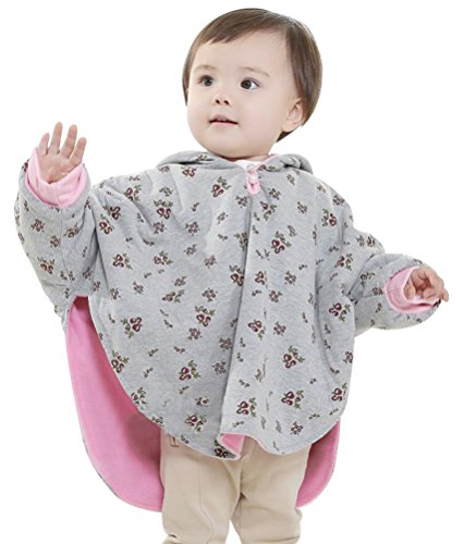Baby Girls Boys Toddlers Double-side Wear Cape Coat Snowsuit Warm Poncho (Poncho Baby Girl)