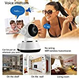 Homdox WiFi Camera, Wireless Surveillance Ip Camera Nanny Cam Pet Baby Monitor with Zoom Motion Detect LCD Display- Infrared Night Vision Two Way Audio Night Vision Remote Control 2.4G WiFi
