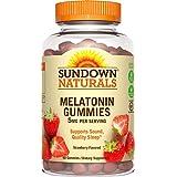 Sundown Naturals Melatonin 5 mg Dietary Supplement Gummies Strawberry Flavor - 60 ct